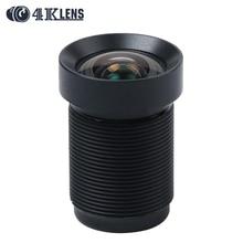 4K LENS 4.35MM Gopro Lens with Dust Ring 1/2.3 Inch 10MP IR 72Degree NON Distortion for Hero 4 Xiaomi Yi SJCAM Camera DJI Drone
