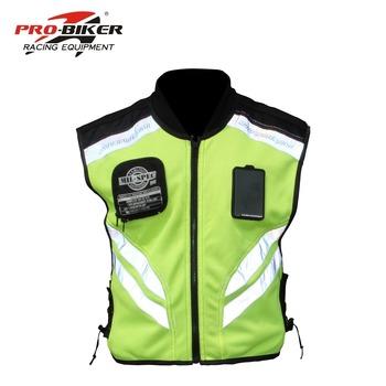 PRO BIKER motocykl odblaskowe kamizelki bezpieczeństwa Motocross wyścigi motocyklowe fluorescencyjny zielony odzież kamizelka Bicicleta tanie i dobre opinie Kombinacje Unisex Poliestru i nylonu Safety Warning Protection star field knight PRO-BIKER