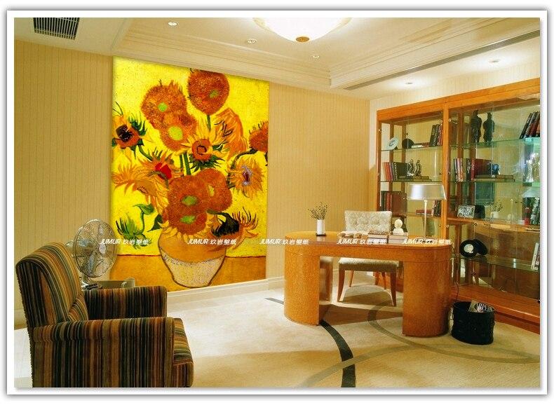 Van Gogh Behang : Zonnebloem d behang van gogh foto behang wereldberoemde