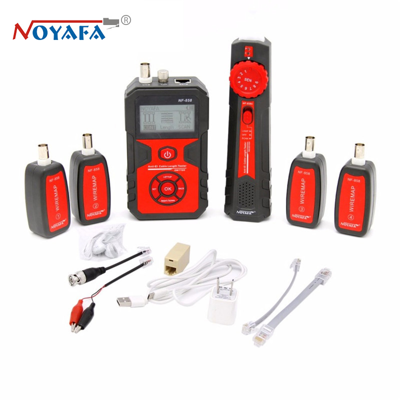 NF-858 Cable Line Locator RJ11 RJ45 BNC Portable Wire Tracker Cable Tester Finder For Network Cable Testing bnc female to rj45 network testing cable black