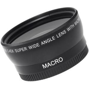 Image 5 - 0.45 × 52ミリメートル52魚眼レンズ広角マクロ広角レンズ袋62ミリメートルキャップ用ニコンd5000 d5100 d3100のd7000 d3200 d90 1ピース