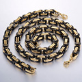 8MM Stainless Steel Necklace Bracelet Chain JEWELRY SET Huge Heavy Byzantine Box Link Chain  Mens Chain Necklace Wholesale KS54