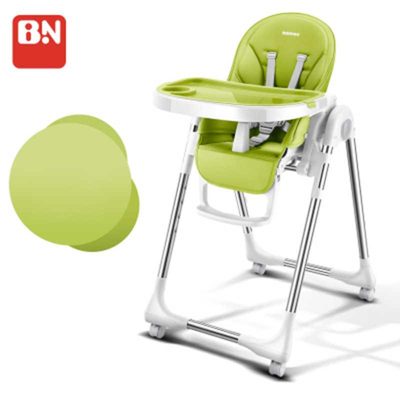 Baoneo russo frete grátis autêntico assento do bebê portátil mesa de jantar do bebê multifuncional ajustável dobrável cadeiras para crianças