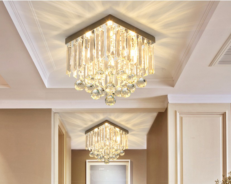 Contracted and contemporary crystal lamp corridor quadrate vestibule porch balcony lamp originality absorbs dome lightContracted and contemporary crystal lamp corridor quadrate vestibule porch balcony lamp originality absorbs dome light