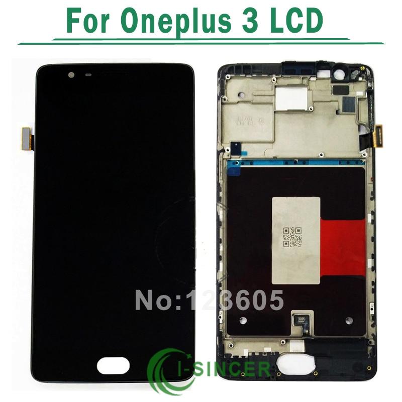 "imágenes para Para Oneplus 3 A3000 A3003 LCD Screen Display Touch Digitalizador Asamblea Con Marco Para 5.5 ""OnePlus 3 Pantalla LCD Negro/Blanco"