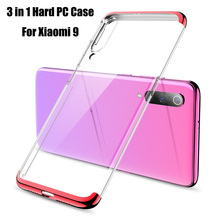 For Xiaomi Mi 9 Mi9 Case Hard PC Plating 3 in 1 Hybrid Transparent Slim Protective Back cover for xiaomi mi9 shell