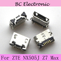 2pcs/lot For ZTE NX505J Z7 Max USB socket Charging Port For ZTE Nubia z7 max High Quality Free Shipping With Tracking Number