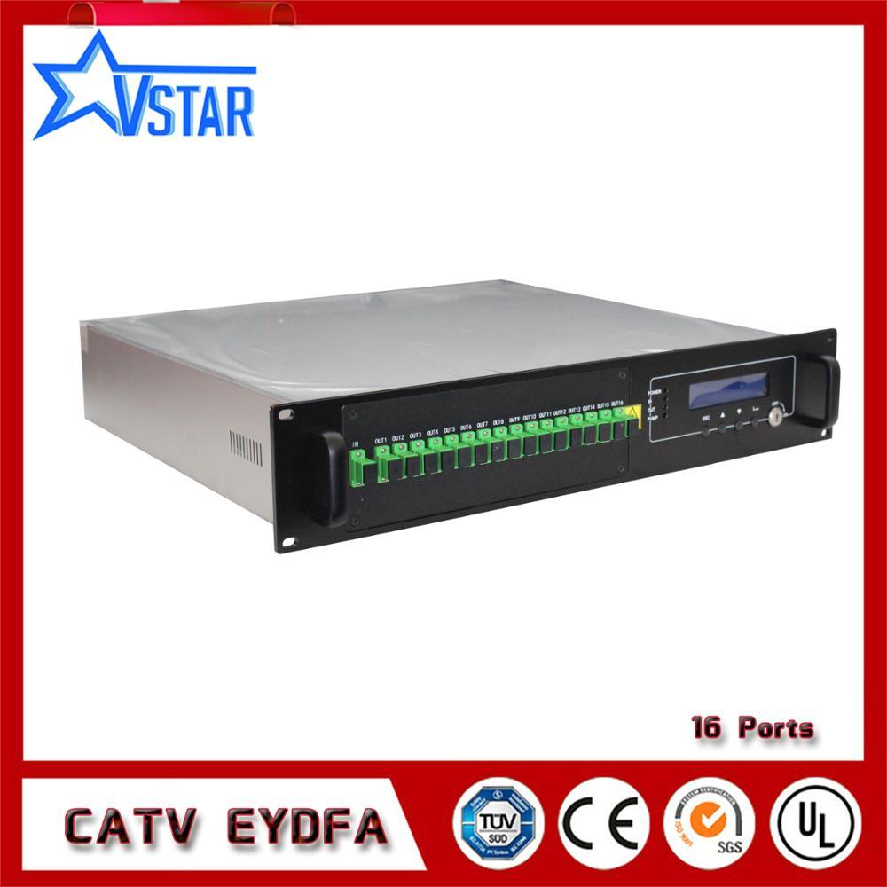 Multi Ports Haute Puissance Sortie CATV Fiber Optique Amplificateur de Signal 1550 nm EDFA 16 * 22dBm