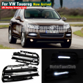 2PCS New LED Daytime Running Light Fog Lamp DRL For VW Volkswagen Touareg 2011 2012 2013 2014 Car Driving Light