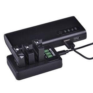 2 шт., 1000 мАч, Оригинальная батарея SJCAM SJ6 LEGEND + LED 3 слота, USB зарядное устройство для SJCAM SJ6 Legend, Спортивная экшн-камера, аксессуары