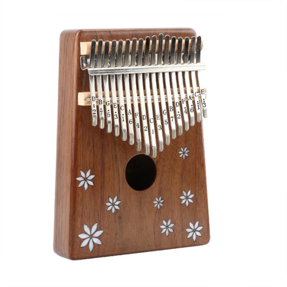 Vente chaude 17 Pouce Clé Piano Mbira Calimba Africain solide Acacia Doigt Kalimba avec Sac Clavier Marimba Bois Instrument de musique