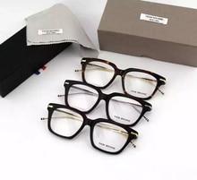 NewYork Eyewear Brand prescription Eyeglasses Metal leg Square Frames glasses TB701 men glasses with original box oculos de grau