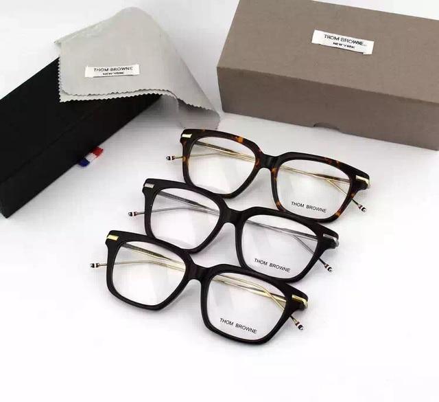 NewYork TB701 Gafas Marca gafas de Marcos de Anteojos recetados de Metal pierna Cuadrados vidrios de los hombres con la caja original gafas de grau