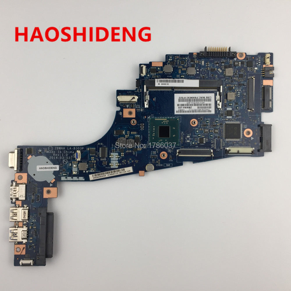 LA-B303P for Toshiba Satellite C50 C55 C50-B C55-B C55-B5299 series Laptop Motherboard .All functions fully Tested ! a000302740 da0blimb6f0 for toshiba satellite s50 l50 b l50t b series motherboard with i5 5200u all functions fully tested