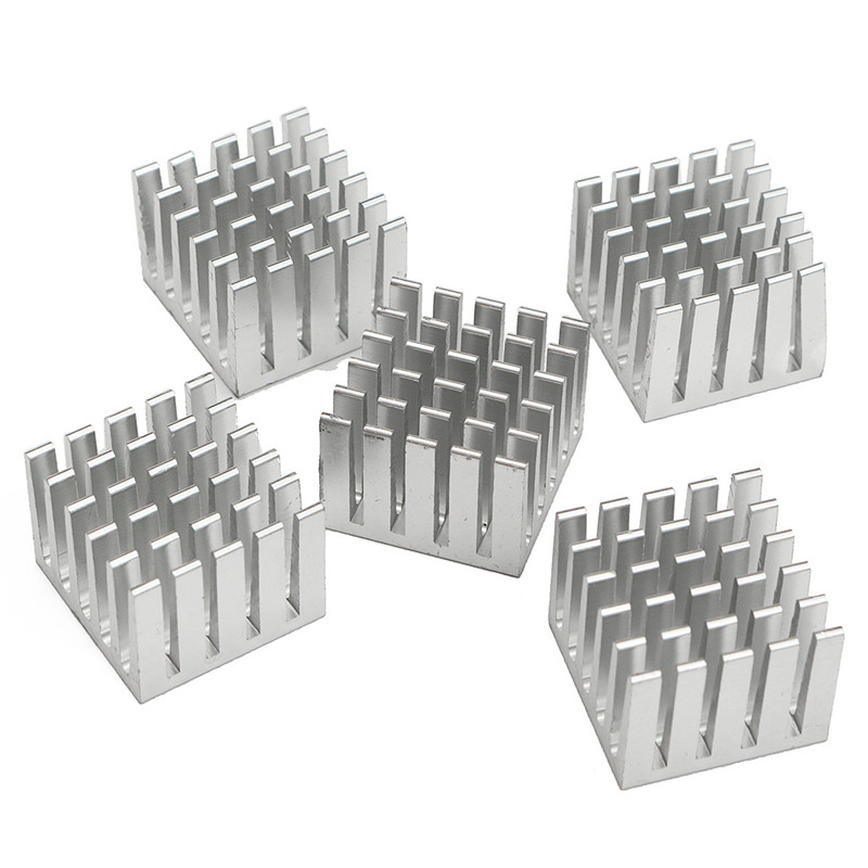 5Pcs Cooling Heatsink Block DIY CPU GPU IC Memory Chip Aluminum Heat Sink 20x20x15mm Extruded Cooler Cooling Fin Fan Radiator 50pcs lot aluminum heatsink 8 8x8 8x5mm electronic chip cooling radiator cooler for cpu ram gpu a4988 chipset heat sink