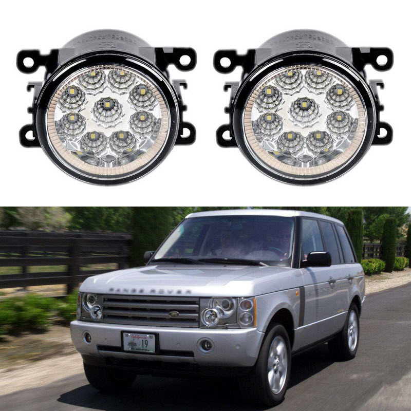 Car-Styling For Land Rover Range Rover LM 2003-2012 9-Pieces Led Fog Lights H11 H8 12V 55W Fog Head Lamp дефлекторы окон novline темный для land rover range rover 2002 2012 комплект 4шт nld slrrr0232