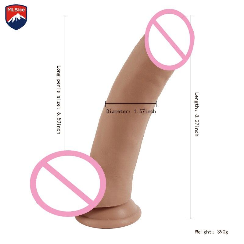 где купить  Mlsice Penis Anal Butt Plug Prostate Massager G-spot Female Masturbation Sex Toys for Women Men Large Dildo Sex Toys Realistic  дешево