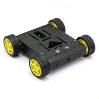 ABWE 4WD Drive Mobile Robot Platform for Robot Arduino MEGA2560 R3 Duemilanove Black