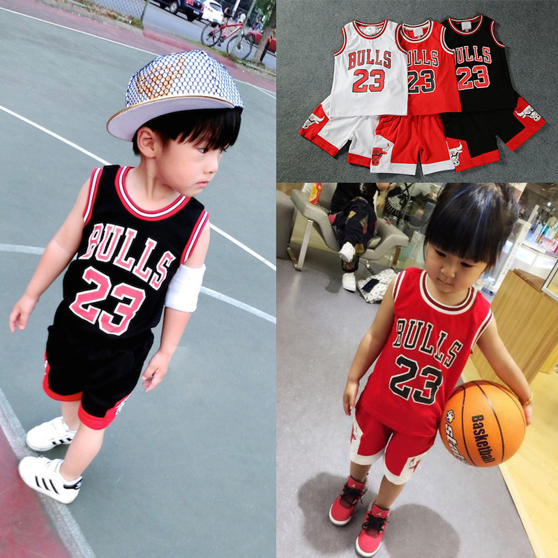 ee9b02532a2 Children Clothing Set Toddler boy girls summer clothes kids clothes boys  tracksuit 2pcs Children s basketball uniform