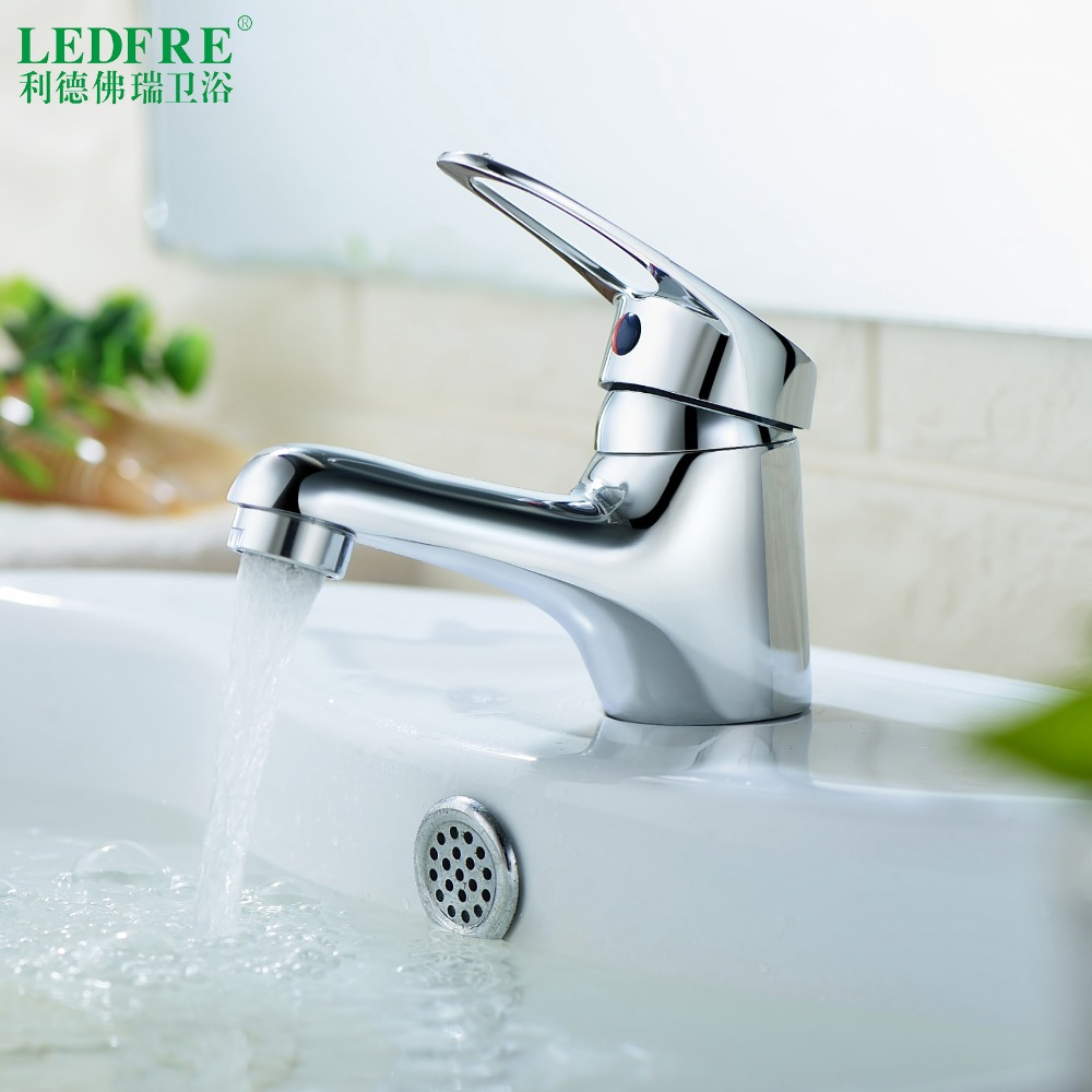 LF56C100 Single level Basin mix faucet water tap bathroom single handle cold and hot water hot cold tap bathroom mixer tap