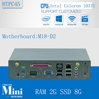 Media Center HTPC Windows sans ventilateur Mini PC X86 Intel Celeron 1037u processeur Full HD 1080 P ordinateur DDR3 2 G RAM 8 G SSD
