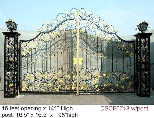 Hench custom made luxury wrought forged iron gates