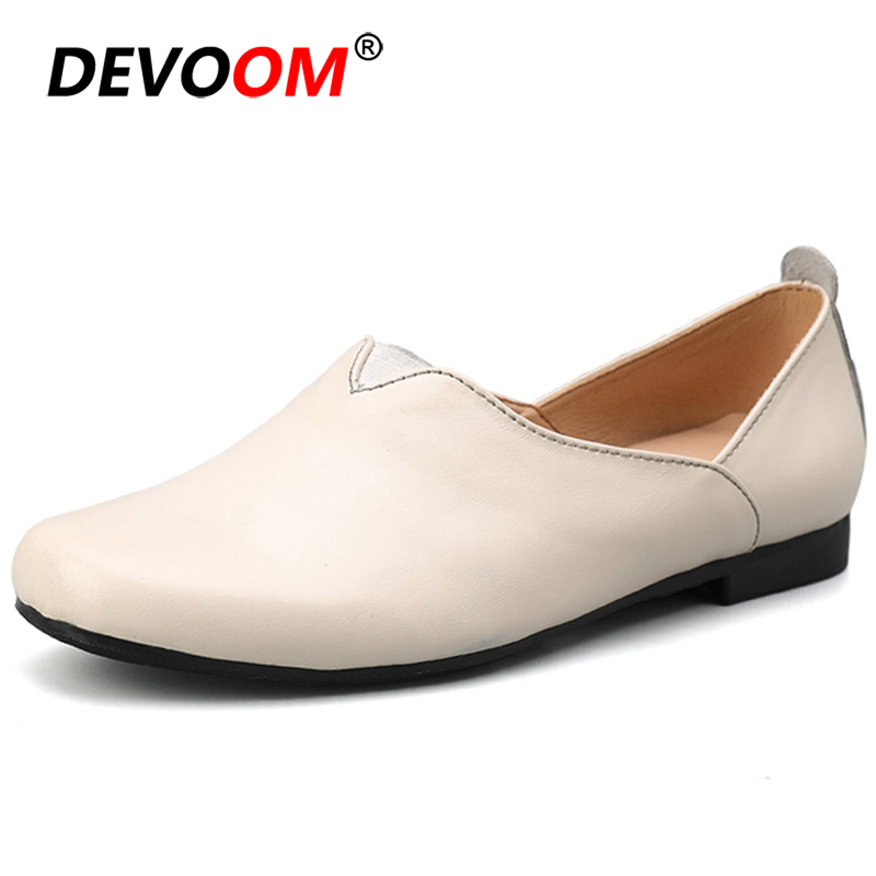 Fashion Leather Shoes Womens Shoes White Heels Pointed Toe Womens Flats Wide Fit Shoes Woman Ballerines Femme Chaussures PlateFashion Leather Shoes Womens Shoes White Heels Pointed Toe Womens Flats Wide Fit Shoes Woman Ballerines Femme Chaussures Plate