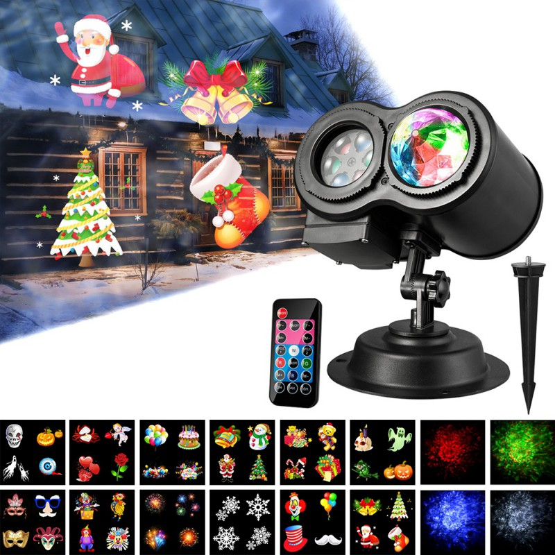 Colorful DJ Disco Ball Lumiere 12V Dual Tubes LED Projector RGB Stage Lighting effect Lamp Light Music Christmas KTV Party hifi colorful ball led lighting wireless bluetooth 4 0 speaker with 3 5mm line in for christmas ktv disco bar