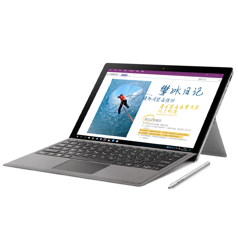 12.6 3 k OGS Screeen VOYO VBOOK i7Plus Core i7 7500U avec IPS Écran Tactile 2in1 Tablet PC 16g RAM 512g SSD M2 licence windows10