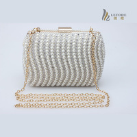 Famous Brand Women Handbags Beading Chains Clutch Shoulder Evening Mini Lady Fashion Elegant Bags Design High