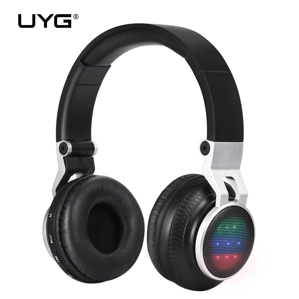 UYG wireless bluetooth headphones headset handsfree earphones mp3 with Microphone TF Card ear phones FM Radio for phone aj 81 wireless bluetooth v2 1 mp3 speaker w tf fm micro usb for iphone more black white