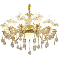 Nordic Crystal Chandeliers Luxury Lamp Murano Chandelier Luminaire Living Room Lights Iron Wrought Chandelier Dining Room Lamp