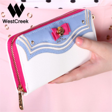 Cute Sailor Moon Wallet Women Zipper Long Ladies Brand Purse Leather Kawaii Wallets Portefeuille Femme