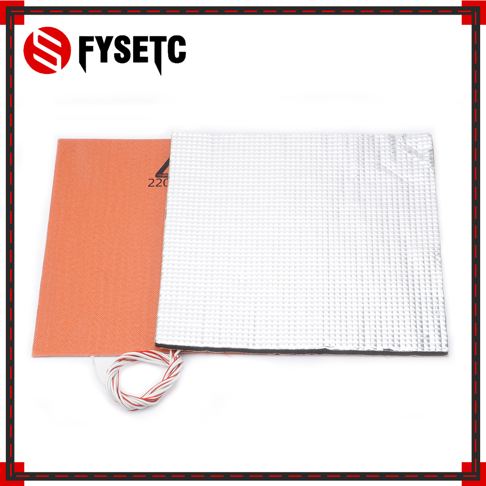 220V 600W Heater Silicone Heater Pad 300X300mm +Foil Self-adhesive Heat Insulation Cotton 300*300*10mm For TEVO Tornado Lulzbot 220V 600W Heater Silicone Heater Pad 300X300mm +Foil Self-adhesive Heat Insulation Cotton 300*300*10mm For TEVO Tornado Lulzbot