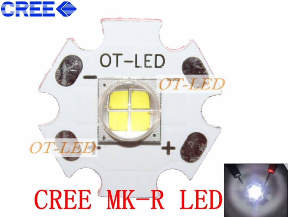 1pcs cree xhp50 xhp70 6000k cool white 18w 35w led emitter 6v 12v with 16mm 20mm for ultra high brightness head lamp car bulbs Freeshipping!Cree Lamp MKR MK-R LED Emitter 1769LM 6000K 15W 12V White LED Chip Light with 20mm Board