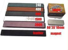 KEINE 3 Apex spitzer new bearbeiten schleifstein set mit leder + lupe + magnet 60*20*10mm