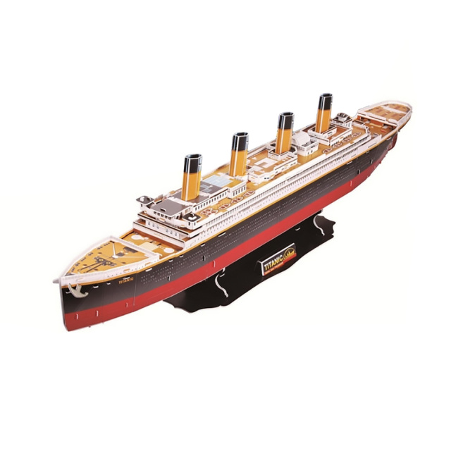 CubicFun 3D Puzzle Toy Titanic 3D Paper DIY Model Office/ Home Decoration (Deluxe) Toys for Kids Child