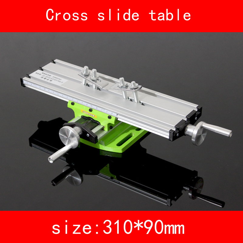 mini Cross slide table module X axis stroke 200MM Y axis stroke 50MM for drilling Milling machine DIY alsgs alb 310 200rpm 450in lb110v 220v horizontal power feed auto power table feed for milling machine x y z axis