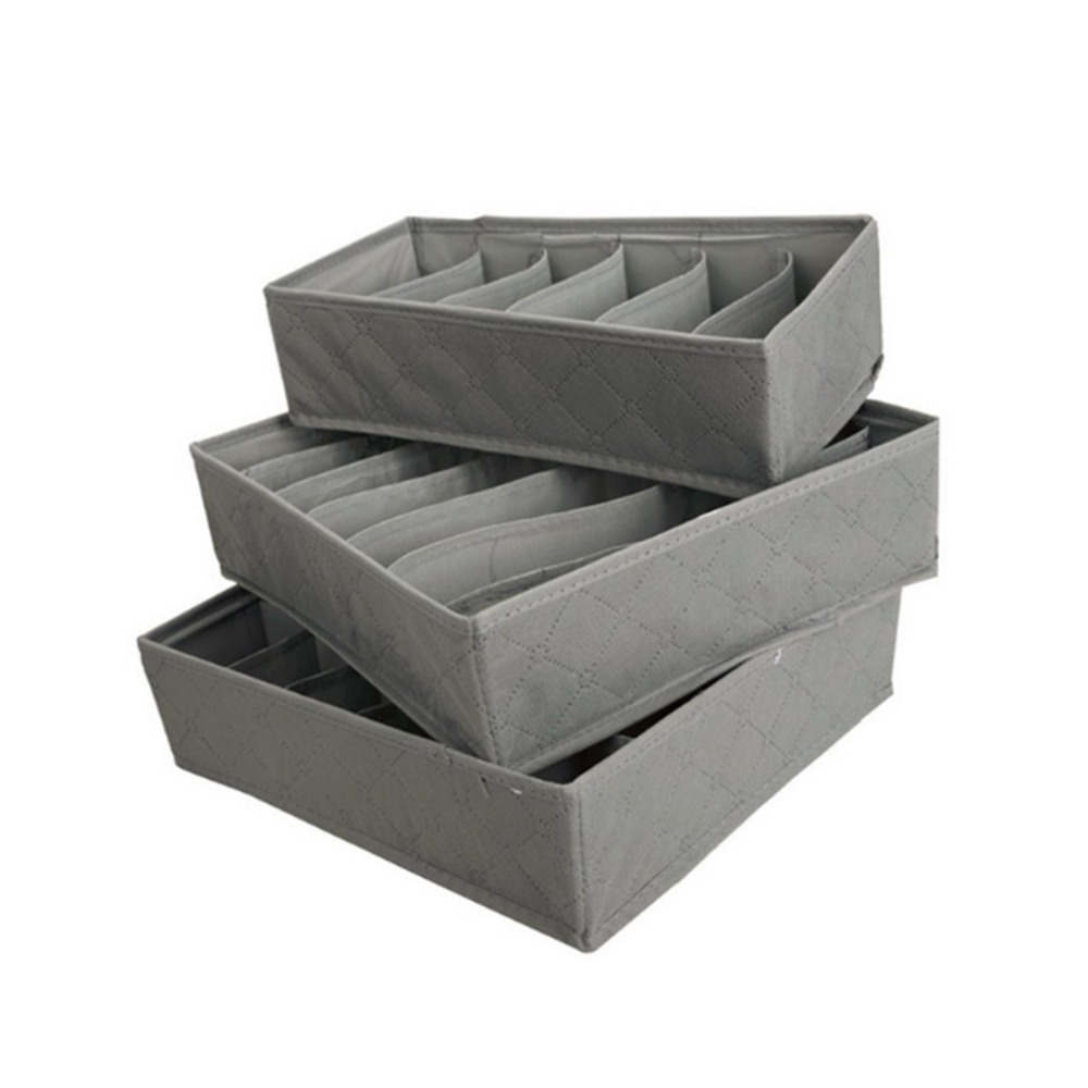 3pcs/set Multifunctional Clothes Socks Bra Ties Underwear Storage Boxes Organizer Container Home Outdoor Tiny Things Storage Box(China)