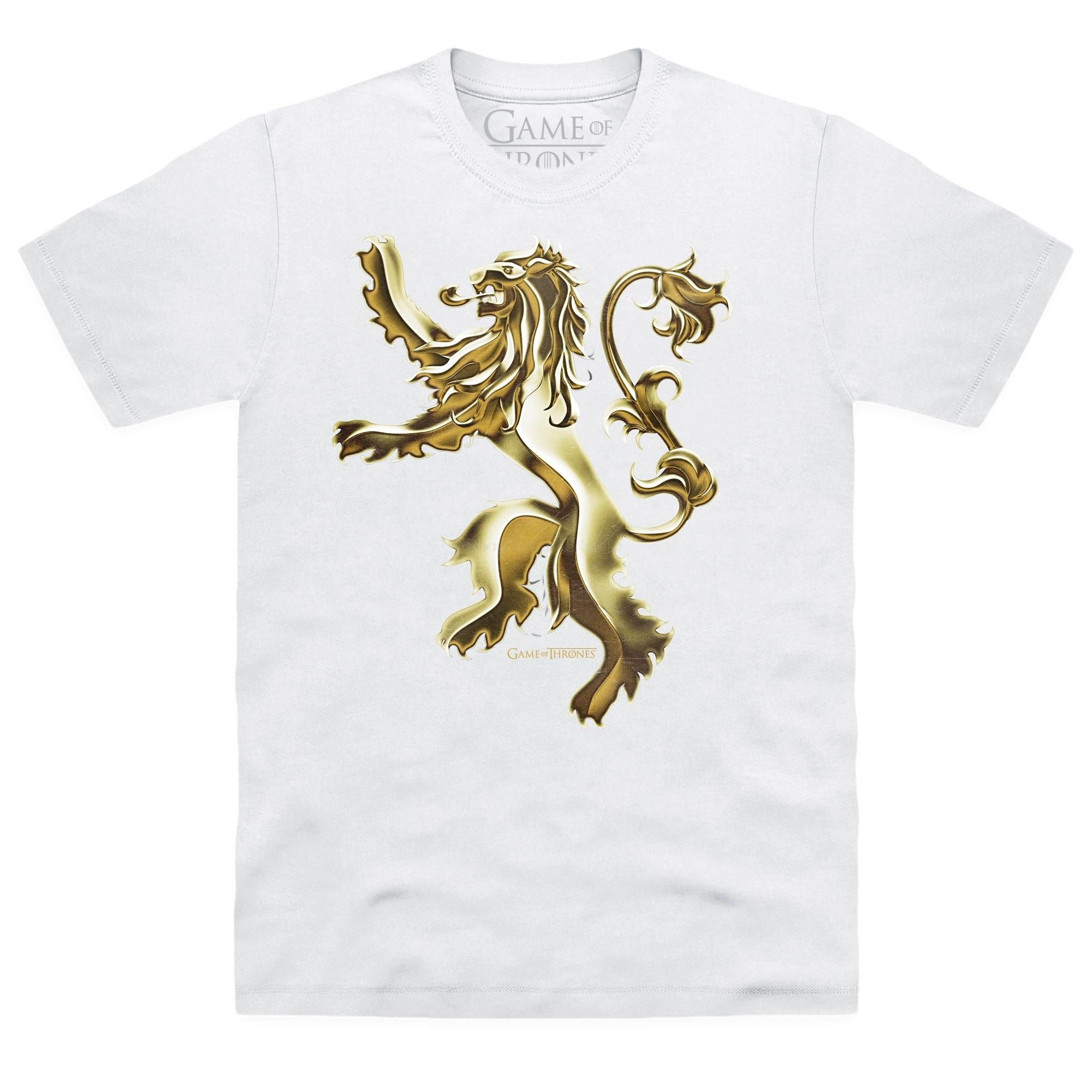 Gildan Brand Game Of Thrones - House Lannister Metallic T-Shirt 2019 Summer Short Sleeve T-Shirt