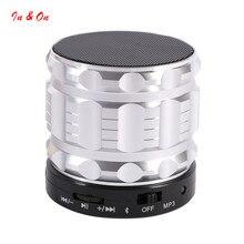 Caliente Mini Altavoces Bluetooth Portátiles de Metal de Acero Smart Wireless Speaker Manos Libres Con Radio FM Soporte Para Tarjetas SD Para el iphone