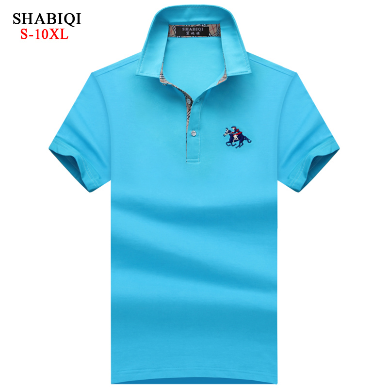 SHABIQI Brand New Men's Polo Shirt Men Cotton Short Sleeve shirt Brands Embroidery Mens Shirts Plus Size 6XL 7XL 8XL 9XL 10XL men plus size 4xl 5xl 6xl 7xl 8xl 9xl winter pant sport fleece lined softshell warm outdoor climbing snow soft shell pant
