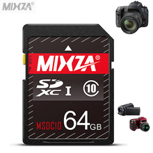 Brand MIXZA SD Card 8 16 32 64 GB SDHC SDXC Card Class 10 UHS-I Flash Memory Card For Canon Nikon Casio FujiFilm Olympus Camera(China)
