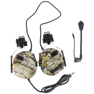 Image 5 - 빠른 헬멧을위한 전술 헤드셋 arc 헬멧 레일 어댑터가있는 군용 소음 감소 헤드셋 사냥 항공 comtac 헤드폰