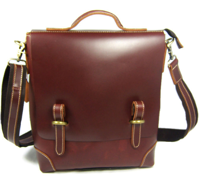 ITALIAN LEATHER MENS BRIEFCASE LAPTOP BAG BROWN BUSINESS GENUINE NEW