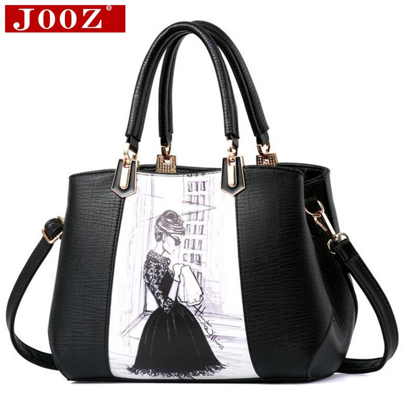 New Arrival Design Women Character Printed Handbag PU Leather Ladies High capac