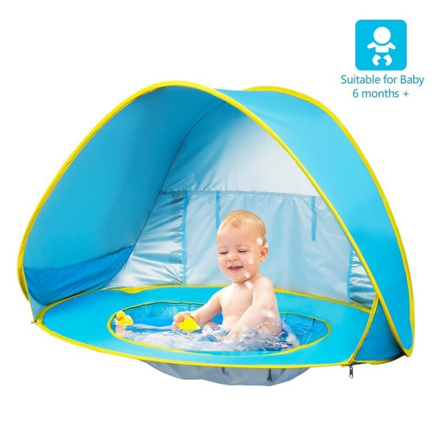 Automatic Free Children S Beach Tent Pool Baby Uv Rain Proof Shade Easy To Use