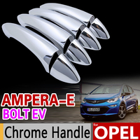 Para opel ampera e para chevrolet bolt ev 2017 2018 luxuoso chrome lidar com capa guarnição conjunto acessórios do carro estilo ampera e|car accessories|for opel|car styling -