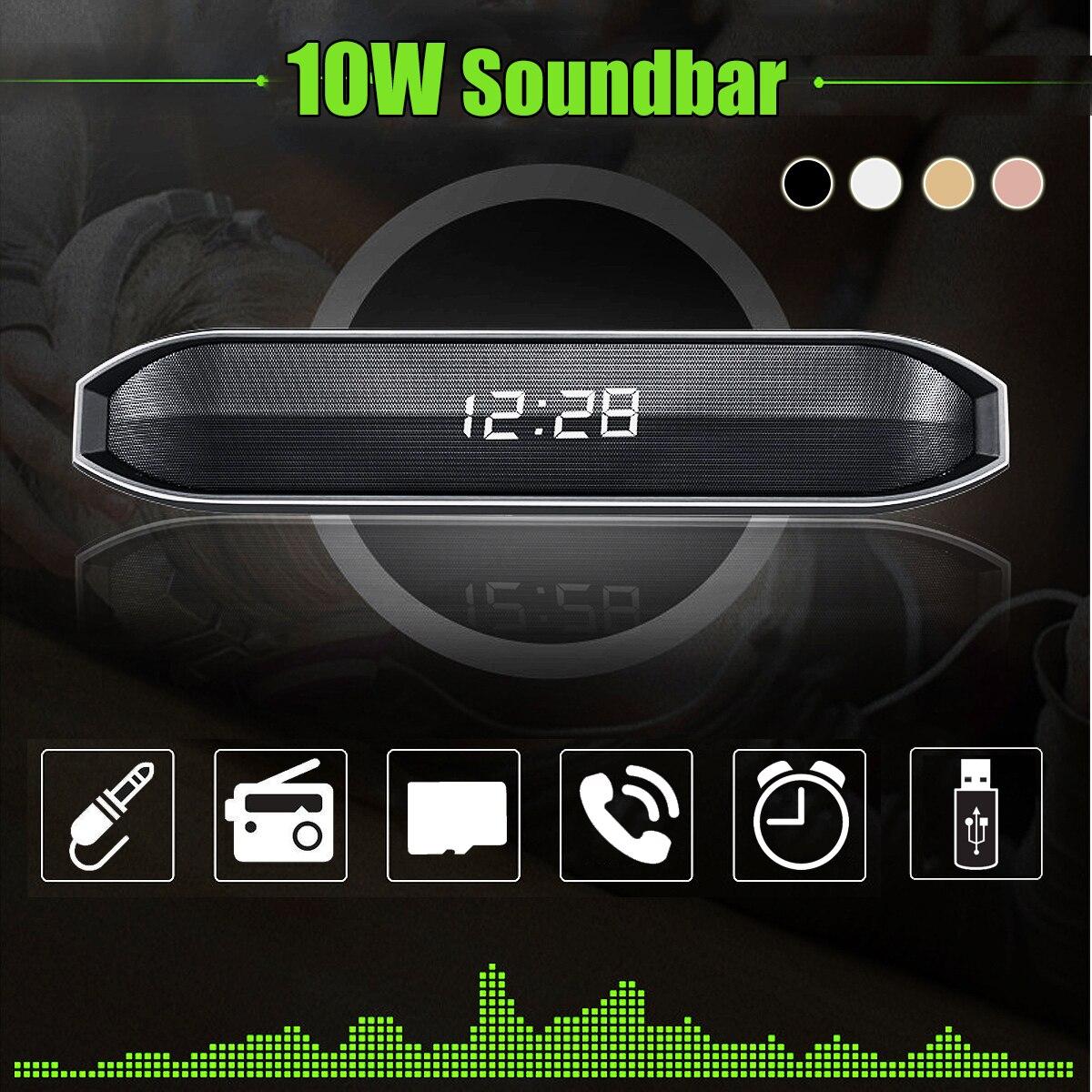 Lautsprecher Initiative Kinco 10 W Tragbare Wireless Bluetooth Lautsprecher 3d Stereo Surround Soundbar Tf Fm Aux Outdoor Sport Lautsprecher Subwoofer Gut FüR Antipyretika Und Hals-Schnuller Subwoofer