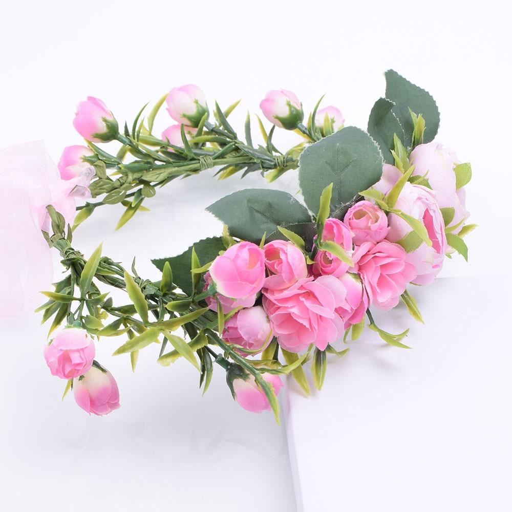 Rustic Blush Pink Ivory Rose Flower Crown Headpieces Hair